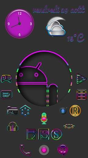 Super Neon icons pack
