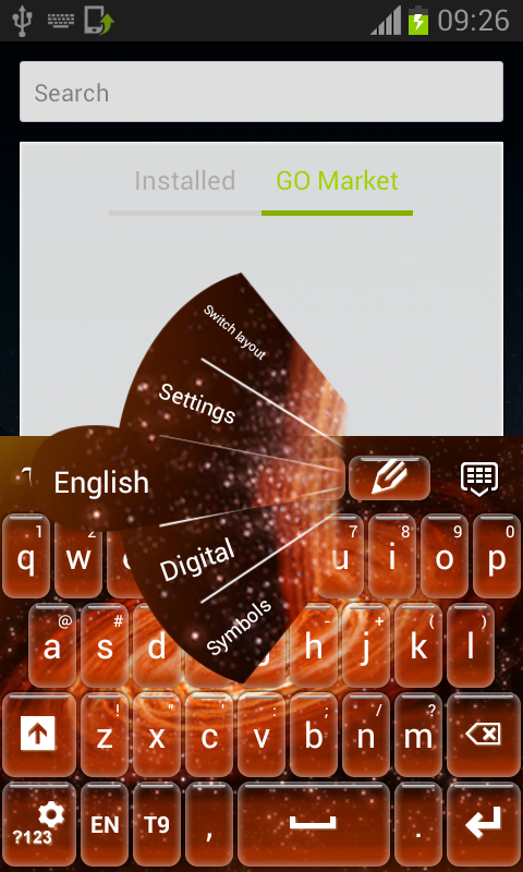 Fire Galaxy Keyboard - screenshot