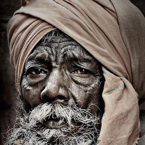 Wrinkle of wisdom by Arnab Bhattacharyya - People Portraits of Men