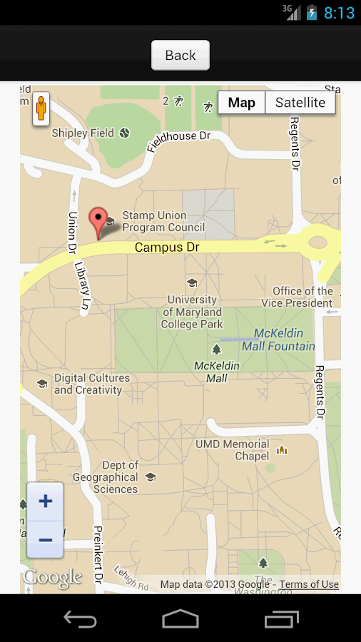 Campus Maps- screenshot