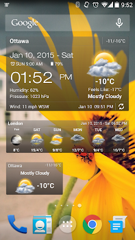 Weather and Clock Widget for Android Ad Free