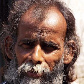 Rough by Udaybhanu Sarkar - People Portraits of Men ( old, men, close up, portrait, wrinkled )