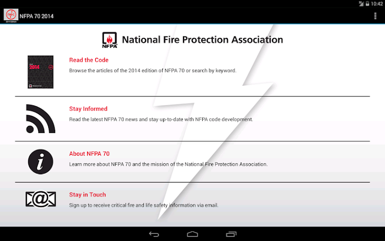 NFPA 70 2014 Edition Screenshot