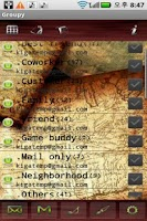 Screenshot of Groupy / contact by group
