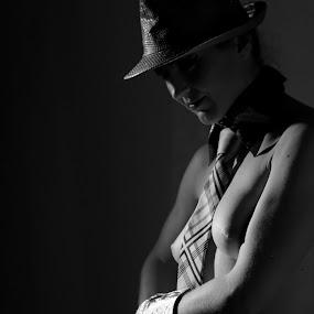 Low key act by Darko Kovac - Black & White Portraits & People