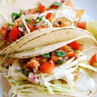 Baja Fish Tacos with Fresh Pico de Gallo.