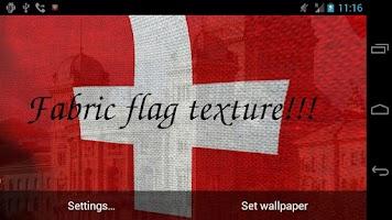 Screenshot of 3D Swiss Flag Live Wallpaper +