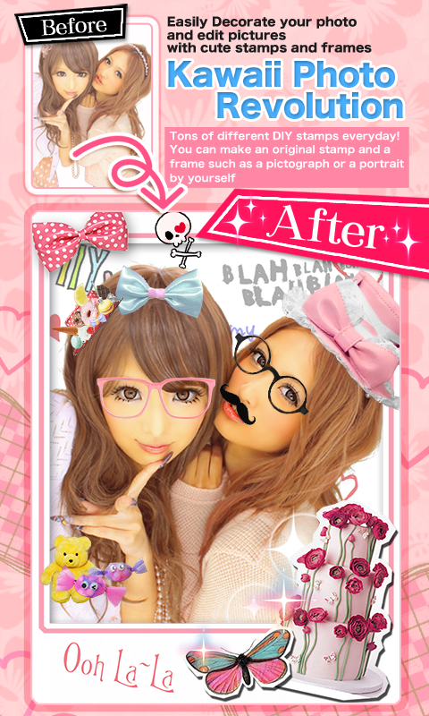 PhotoBooth Sticker:GirlsCamera - screenshot