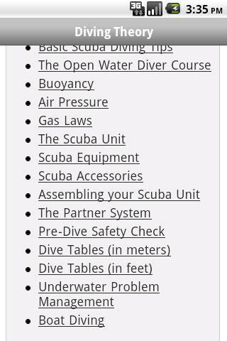 Scuba Exam- screenshot