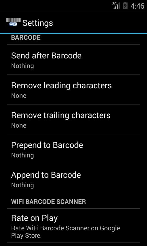 WiFi Barcode Scanner - screenshot