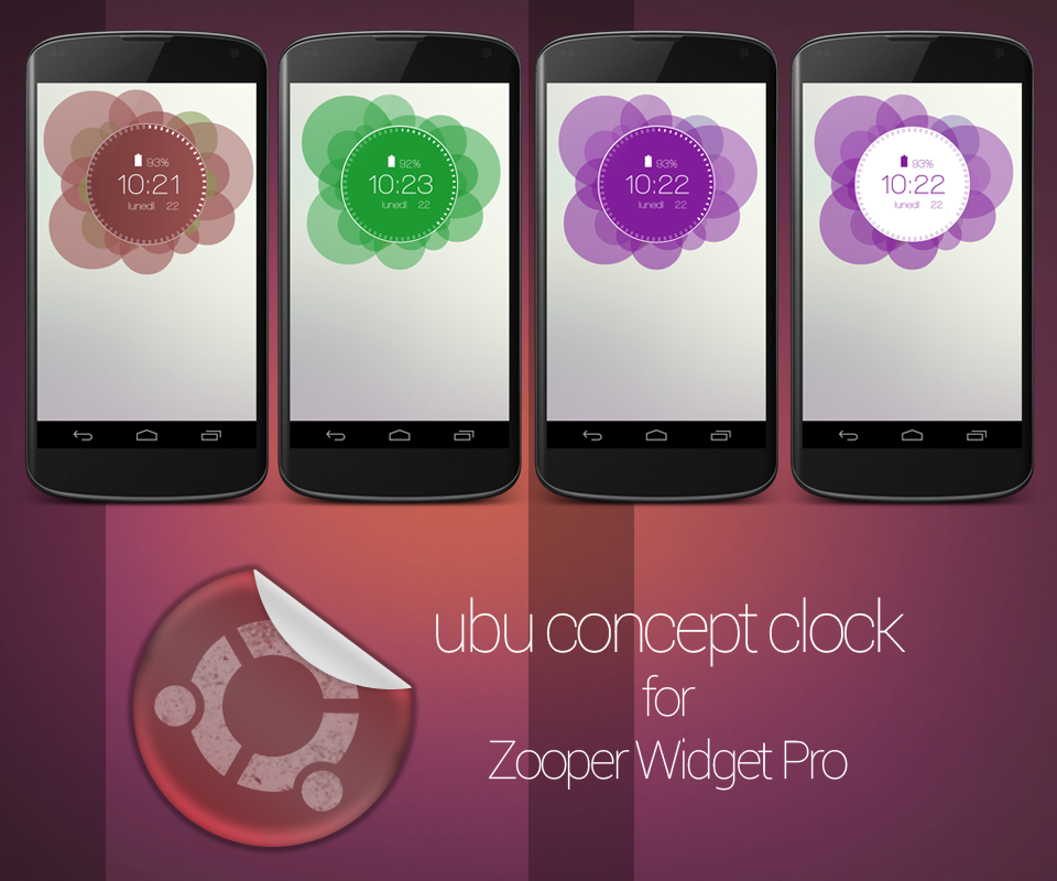 Ubu Clock for Zooper Widget - screenshot