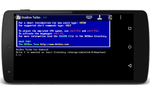 Screenshot for DosBox Turbo in United States Play Store