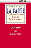 Screenshot of La Carte
