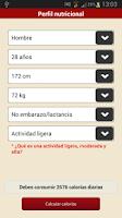 Screenshot of Recetas