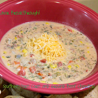 Southwestern Corn and Ground Beef Chowder