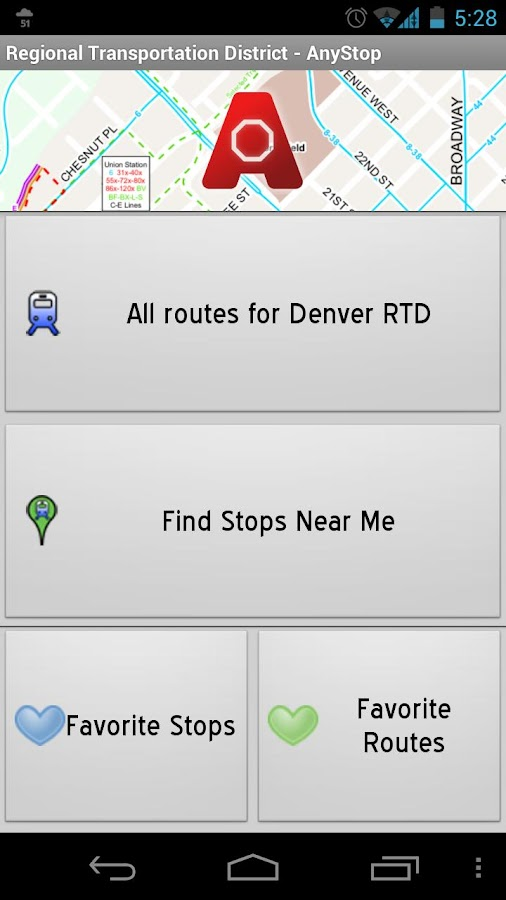 Denver RTD: AnyStop - screenshot