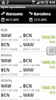 Screenshot of eLOT Flight Booking