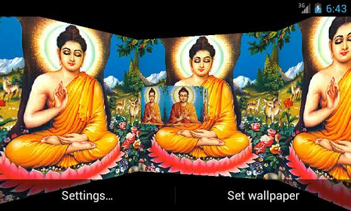 Lord Budha 3D Live Wallpaper