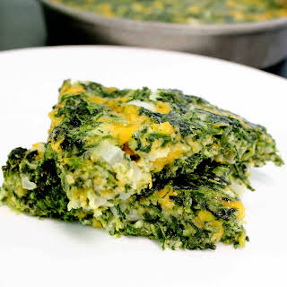 Cheesy Spinach Squares.