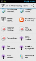 Screenshot of Hockey News and Scores