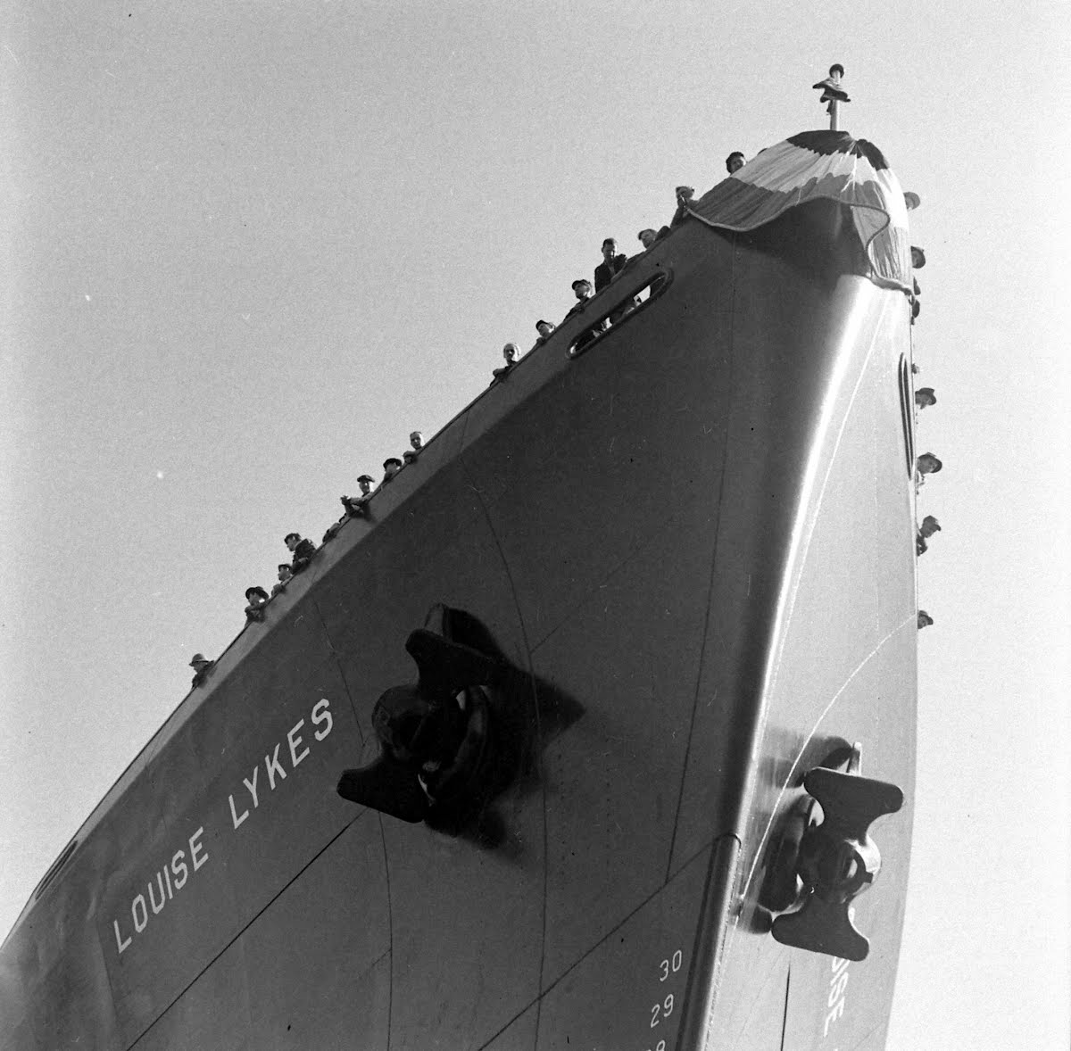 "Kearney Ship Launching ""Louise Lykes"""