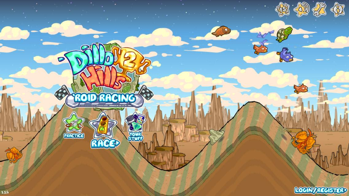 Dillo Hills 2: 'Roid Racing- screenshot