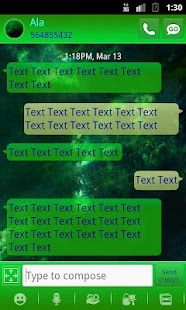 GO SMS PRO Planets theme - screenshot thumbnail