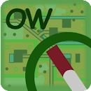 Orienteering way icon