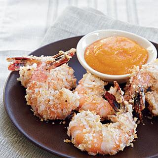 Coconut Shrimp with Mango Sauce.