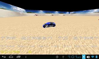 Screenshot of TRON LIGHTCYCLE ROCK RACE GAME