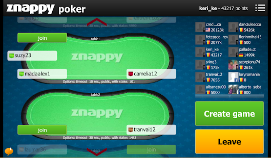 Poker Znappy- screenshot thumbnail