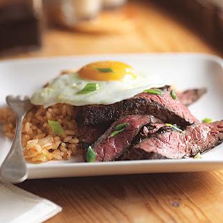 Steak and Eggs Korean Style.