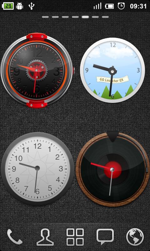 GO Clock Widget - screenshot