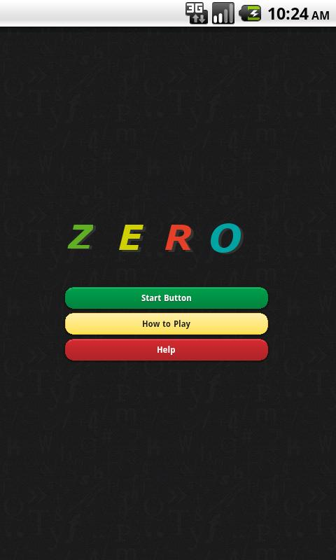 Zero - The Math Game - screenshot