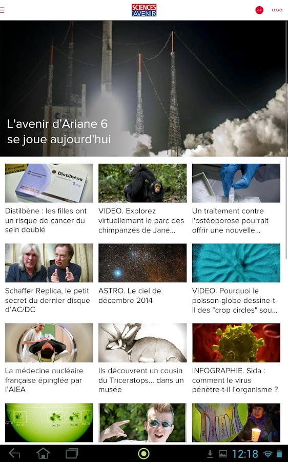 Sciences et Avenir - screenshot
