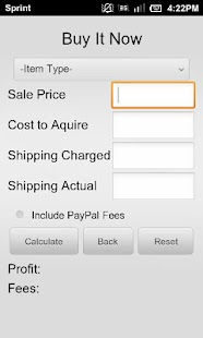 Calculator for Amazon & eBay- screenshot thumbnail