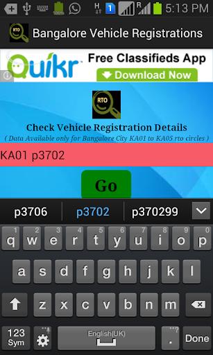 Banglore Vehicle Registrations