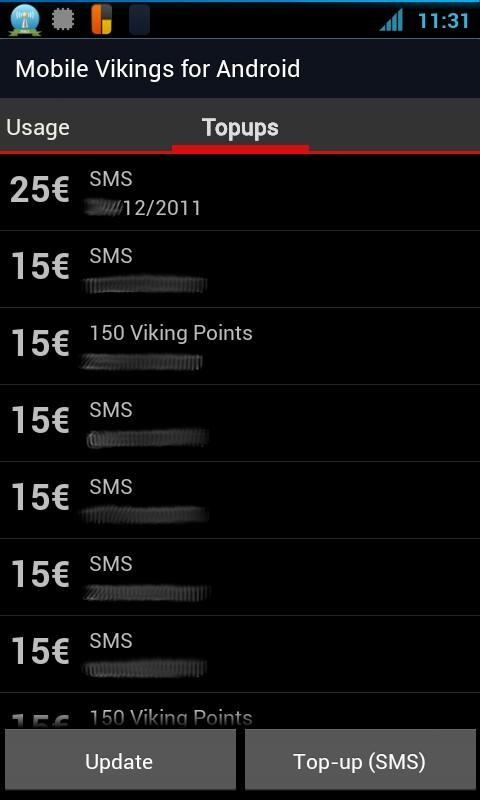 Mobile Vikings Android - Beta - screenshot