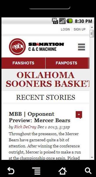CCM's Ultimate Sooner App - screenshot