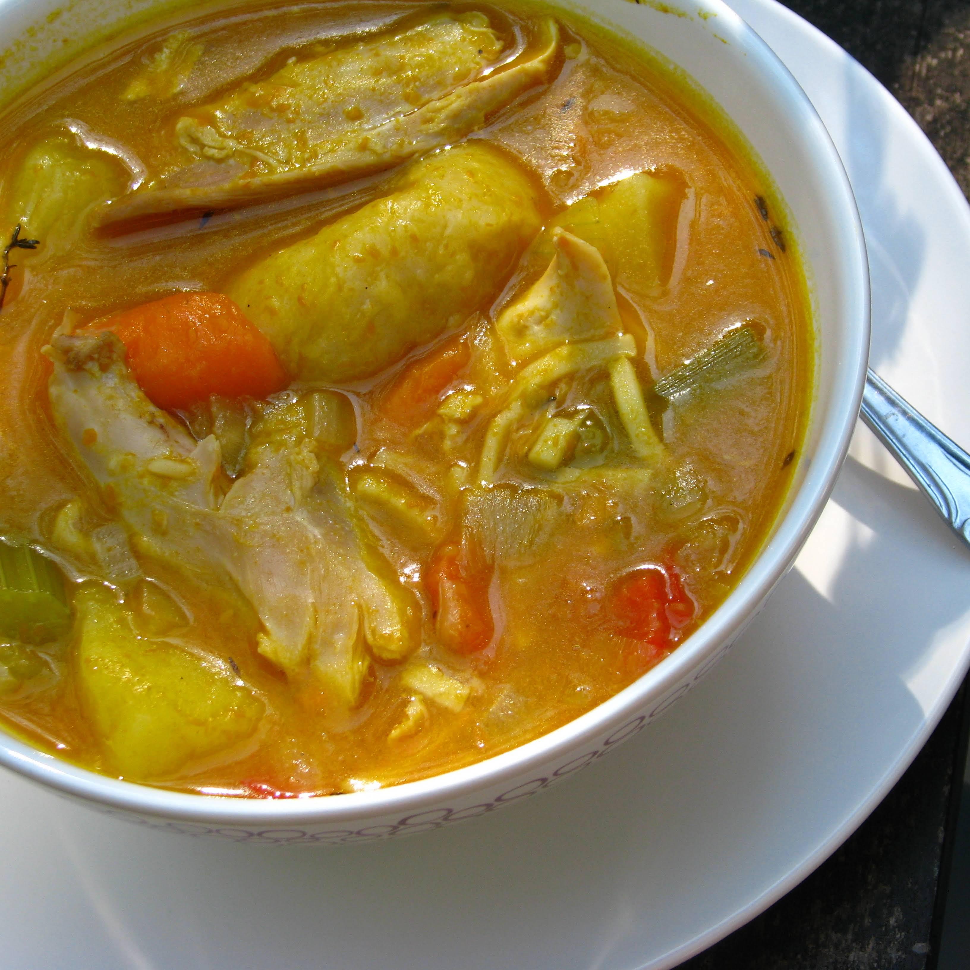 Jamaican Pumpkin Chicken Soup