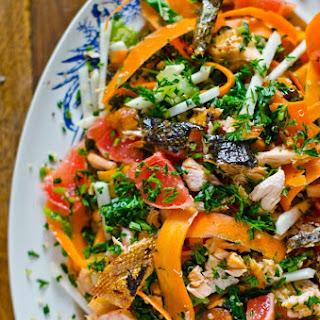 Quinoa And Salmon Salad.