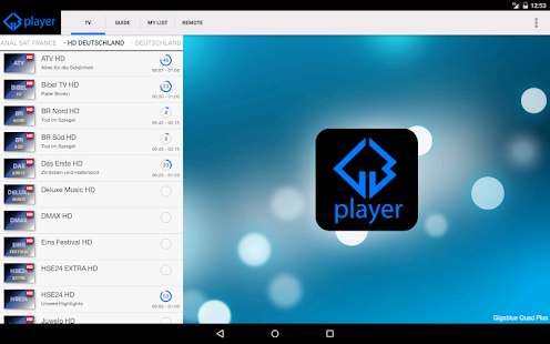 Gigablue Player - screenshot thumbnail