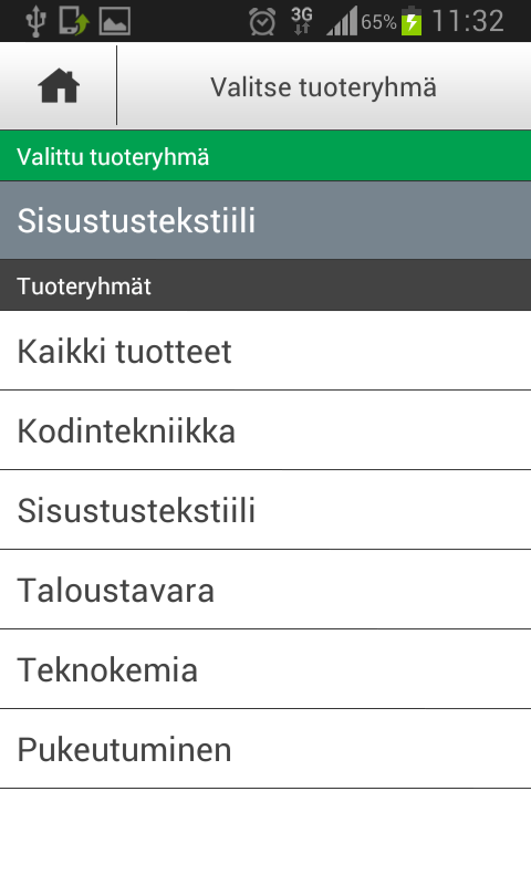 Tokmanni- screenshot