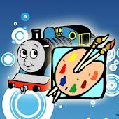 Coloring Book the Train