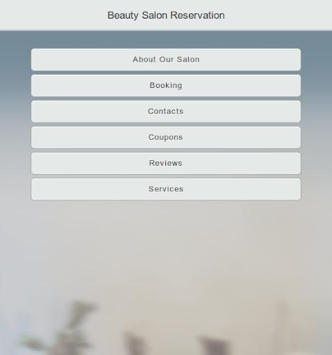 Beauty Salon Reservation