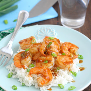 Pan-Seared Shrimp with Ginger-Hoisin Glaze