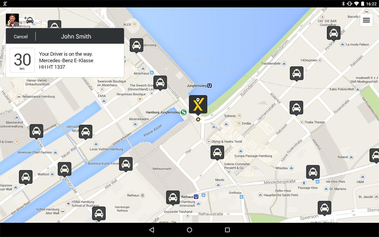 mytaxi – The Taxi App- screenshot