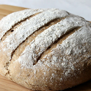 Homemade Whole Wheat Crusty Bread.