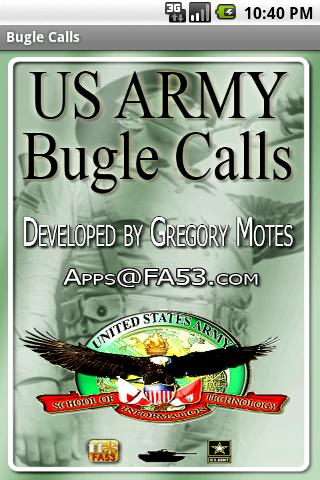 US Army Bugle Calls - screenshot