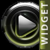 Poweramp widget Olive Glow